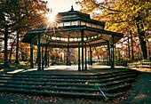 Gazebo And Band Stand In Autumn; Toronto, Ontario, Canada