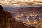 View From Grandview Overlook Into The Geological Formations Of The Canyon At Grand Canyon National Park, South Rim Near Tusayan, Arizona In Mid-Summer; Arizona, United States Of America