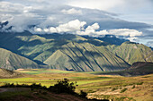 Mountains Surrounding Moray Ruins In The Sacred Valley Near Ollantaytambo; Cuzco, Peru