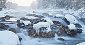 Winter Enns, Ennstal alps, the Gesaeuse National Park, Styria, Austria