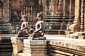 Statues at ancient temple of Angkor Wat, Siem Reap, Cambodia