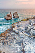 Torre dell'orso, province of Lecce, Salento, Apulia, Italy, The two sisters
