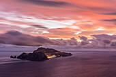 Capri, Napoli, Campania, Italy, Capri island at sunset