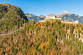 Reutte, Tyrol, Austria, Europe, Ehrenberg Castle and the Highline 179, the world's longest pedestrian suspension bridge
