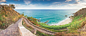 Parghelia, Province of Vibo Valentia, Calabria, Italy, Panoramic view of Michelino's beach