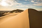 Sand dunes in Gobi desert. Sevrei district, South Gobi province, Mongolia.