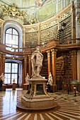 A statue into Austrian National Library, Vienna, Austria