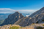 Italy, Abruzzo, Gran Sasso e Monti della Laga National Park, Corno Piccolo peak
