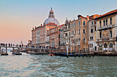 temporary votive pedestrian bridge built over the Grand Canal giving access to the Basilica of Saint Mary of Health for the the annual recurrence, 19th november 2017, Venice, Veneto, Italy