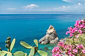 Parghelia, province of Vibo Valentia, Calabria, Italy, Europe, The rock formation 'La Pizzuta'