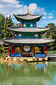 Pagoda at Black Dragon Pool, Lijiang, Yunnan Province, China,Asia,Asian,East Asia,Far East