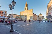 Basilica of Santa Maria Assunta in Atri at sunset Europe, Italy, Abruzzo, Teramo, Atri