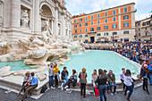 Trevi Fountain in Roma Europe, Italy, Lazio region, Rome capital city