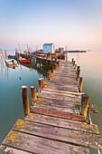 Carrasqueira harbour, the iconic Cais Palafitico, Setubal, Portugal