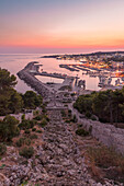 Santa Maria di Leuca, province of Lecce, Salento, Apulia, Italy at sunset