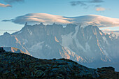 Dent du Geant and Grandes Jorasses, Aosta Valley, Italy, Italian alps