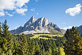 Europe, Italy, South Tyrol, Bolzano. Puez group, Erbe pass, Funes, Dolomites, Trentino, Italy