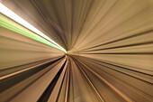 Abtsract details of the indoor tunnel of the Metro, Copenhagen, Denmark