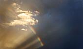 Rainbow after a thunderstorm. La Villa, Alta Badia, South Tyrol, Italy, Europe