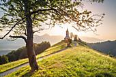 The iconic Jamik church, Jamnik, Kranj, Upper Carniola, Slovenia