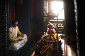 Nepali Mandir, one of the oldest Hindu temples in Varanasi, Uttar Pradesh, India, Asia