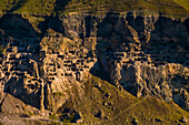 Ancient homes in mountainside