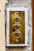 Classical Italian doorbells, Florence, Italy