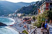 Bay of Monterosso al Mare, province of La Spezia, Cinque Terre, Liguria, Italy, Europe