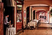 Droggeria della Rosa Restaurant in Bologna, Via Cartoleria, Bologna Emilia-Romagna, Italy, Europe