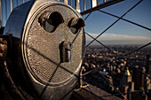 Telescope on the viewing platform of Empire State Building, Manhattan, NYC, New York City, United States of America, USA, North America
