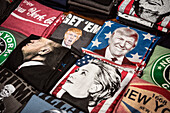 T-Shirt with Presidential Election candidates Hillary Clinton and Donald Trump, Little Italy, Manhattan, NYC, New York City, United States of America, USA, North America