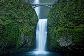 Multnomah Waterfall attracts people from around the world to see water plunge over 600 feet in two tiers.