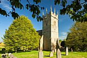 Spring afternoon at Longborough village in the Cotswolds, Gloucestershire, England.