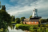 Spring afternoon at Gibbet mill in Rye, East Sussex, England.
