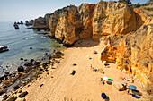 Portugal algarve near Lagos , Praia Dona Ana Atlantik coast