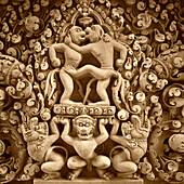 Relief at Banteay Srei, Angkor,  Cambodia, Asia