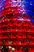 Torre Agbar by Jean Nouvel, Barcelona, Catalunia, Spain, | editorial use only