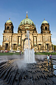 Fountain in front of Dome, Berlin, Germany