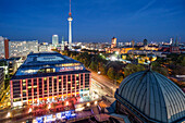 Panoramic view from Dome Roof Top to Alex , Berlin, Germany