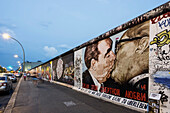 Berlin Wall mural, East Side Gallery, The kiss, Berlin, Germany