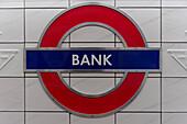 Subway Station Bank, City of London, UK