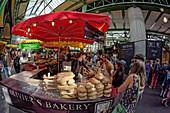Borough Market, bakery, Southwalk, London Bridge Quartier, London