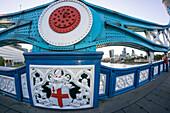 Tower Bridge, Fisheye, Backgound Financial Center, The Goerk, London, UK