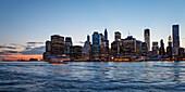 Skyline of New York City, Manhattan, sunset, NYC, Big Apple, USA