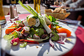 Salade Nicoise, Nice, Alpes Maritimes, Provence, French Riviera, Mediterranean, France, Europe