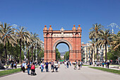 Arc de Triomf, by architect Josep Vilaseca i Casanovas, Barcelona, Catalonia, Spain, Europe