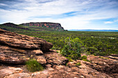 Views from the Nadab lookout, at the sacred Aboriginal site of Ubirr, Kakadu National Park, UNESCO World Heritage Site, Northern Territory, Australia, Pacific