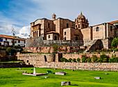 Qoricancha (Temple of the Sun) ruins and Santo Domingo Convent, UNESCO World Heritage Site, Cusco, Peru, South America