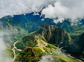 Machu Picchu Ruins seen from the Machu Picchu Mountain, UNESCO World Heritage Site, Cusco Region, Peru, South America