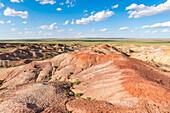 White Stupa sedimentary rock formations, Ulziit, Middle Gobi province, Mongolia, Central Asia, Asia